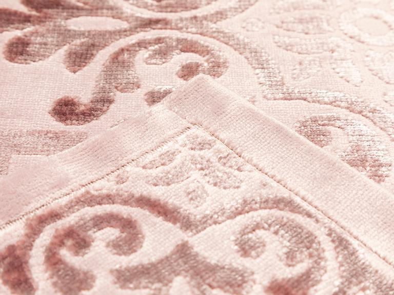 Velvet Klasik Kadife Banyo Paspası Seti 60x90 Cm + 50x60 Cm Mürdüm