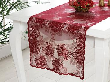 Dream Rose Örme Tekli Runner 45x150 Cm Bordo