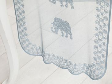 Bohemian Örme Tekli Runner 45x150 Cm Mavi