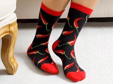 Chili Pamuk Kadın Çorap Kırmızı