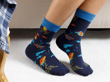 Monk Fish Pamuk Çorap Standart Lacivert