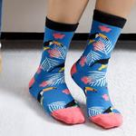 Toucan Pamuk Kadın Çorap Mavi