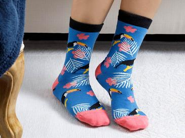 Toucan Pamuk Çorap Standart Mavi