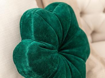 Bloom Kadife Dolgulu Kırlent 40x40 Koyu Yeşil
