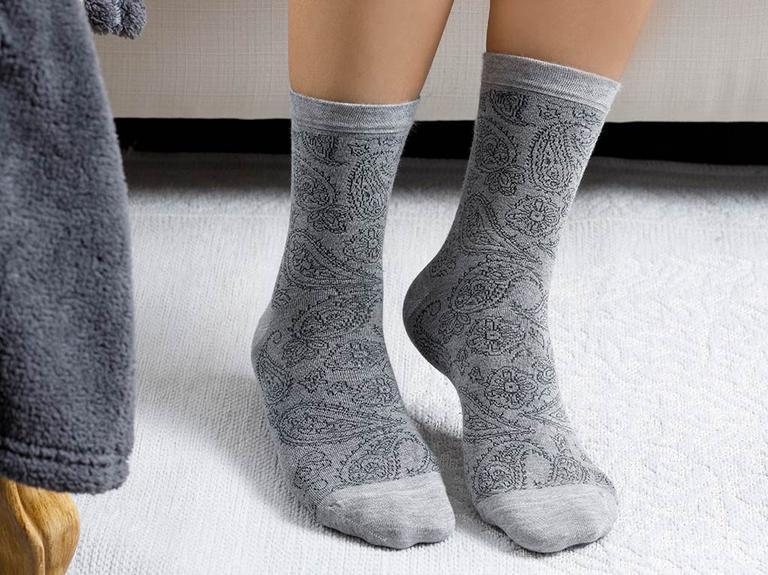 Samba Bambu Kadın Çorap Standart Gri