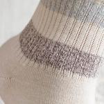 Soft Stripe Pamuk Kadın Çorap Beyaz