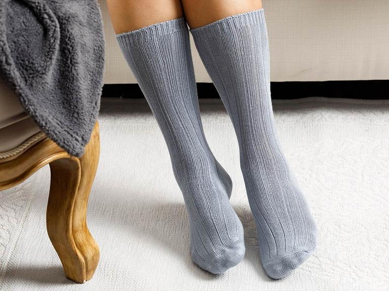 Caraline Bambu Kadın Çorap Gri