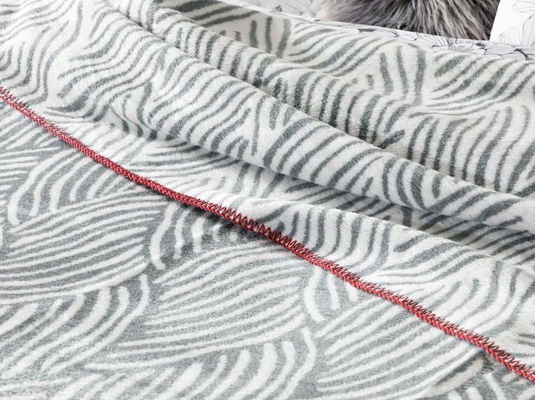 Braid Pamuklu Tek Kişilik Battaniye 150x200 Cm Gri