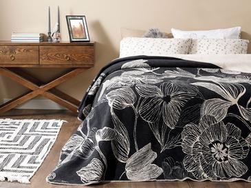 Dark Mono Pamuklu Çift Kişilik Battaniye 200x220 Cm Bej - Siyah