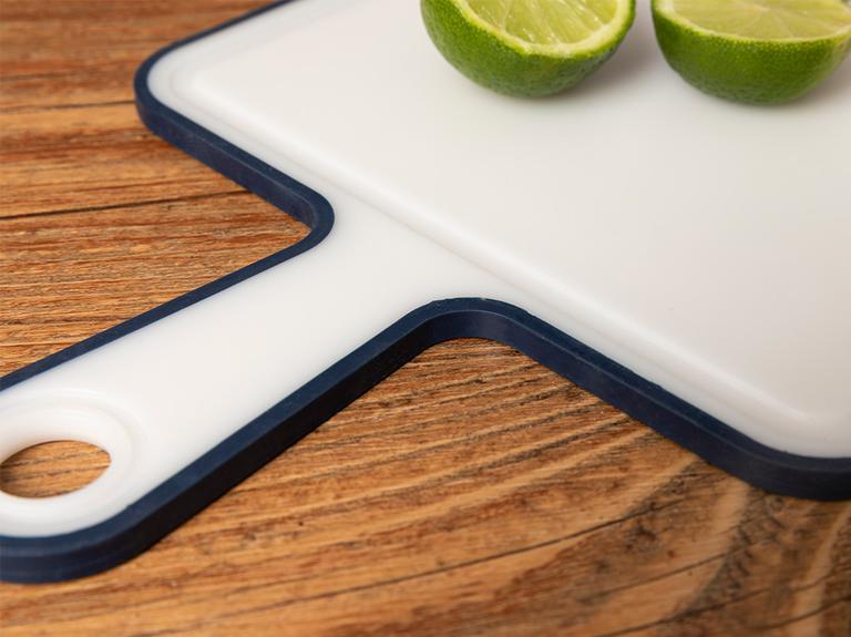 Basic Plastik Saplı Kesme Tahtası 40 Cm Lacivert