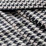 Pied De Poule Pamuklu Tek Kişilik Battaniye 150x200 Cm Bej - Siyah