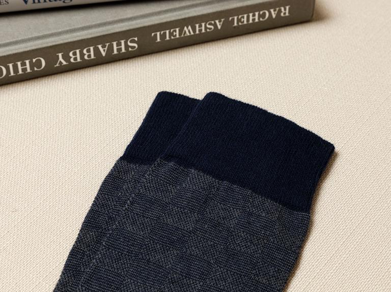 Square Pamuk Erkek Çorap Lacivert