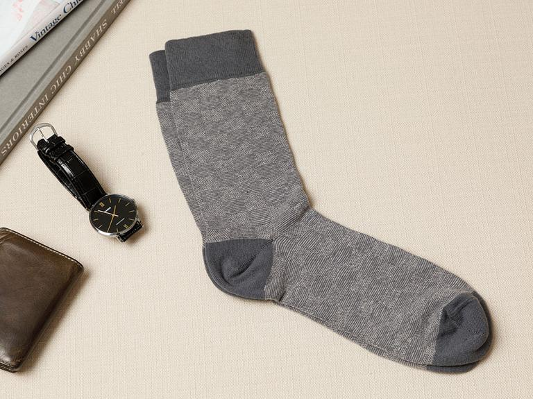 Square Pamuk Erkek Çorap Standart Antrasit