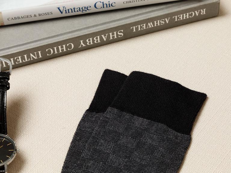 Square Pamuk Erkek Çorap Siyah
