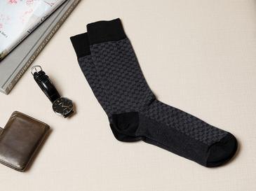 Matris Pamuk Erkek Çorap Standart Siyah