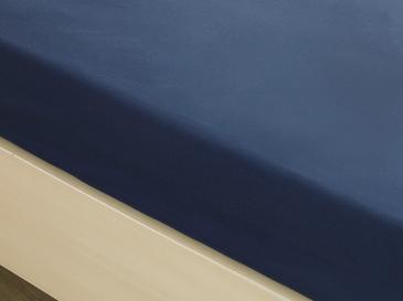 Düz Pamuklu King Size Lastikli Çarşaf 180x200 Cm Gece Mavisi