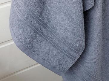 Thin Stripe Fitilli 2'li Banyo Havlusu Takımı 50x85+70x140cm İndigo