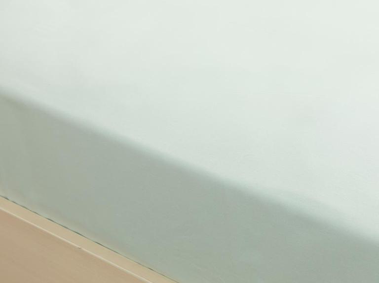 Düz Pamuklu Super King Lastikli Çarşaf 200x200 Cm Açık Seledon