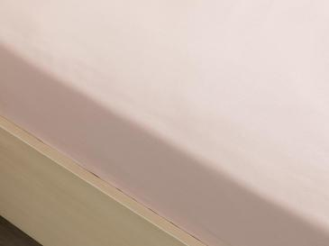 Düz Pamuklu Çift Kişilik Lastikli Çarşaf 160x200 Cm Toz Pembe