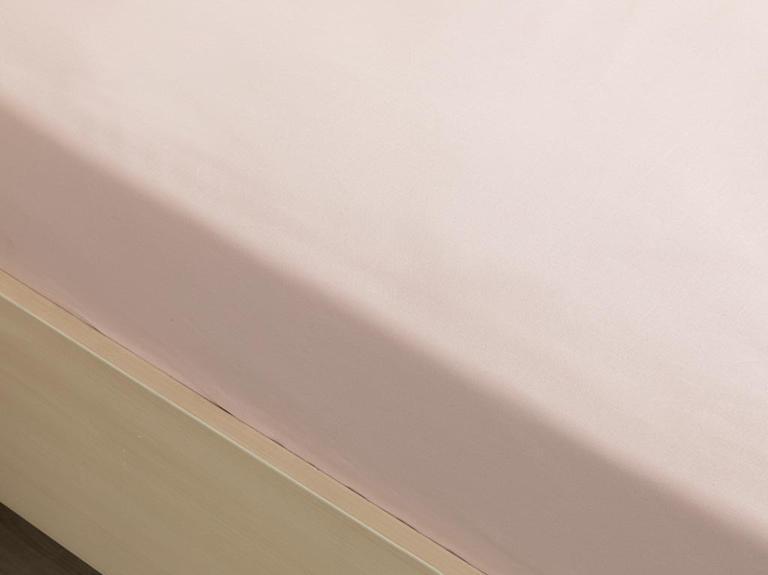 Düz Pamuklu King Size Lastikli Çarşaf 180x200 Cm Toz Pembe
