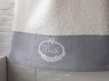 Soft Bath Bordürlü Yüz Havlusu 50x80 Cm Açık Gri