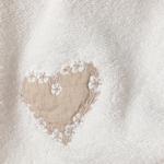 Heart Warming Nakışlı El Havlusu 30x45 Cm Ekru