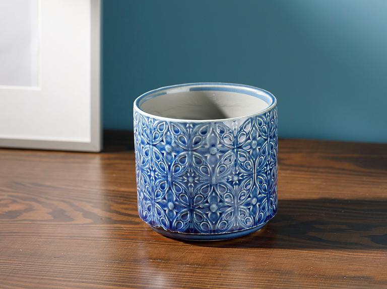Rayu Seramik Saksı 10,5x12x12 Cm Mavi