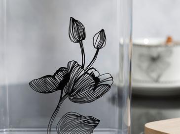 Denby Elegant Plastik Ahşap Kapaklı Erzak Kabı 2l Şeffaf