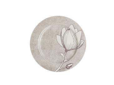 Magnolia Porselen 12 Parça Yemek Takımı 17 Cm - 20 Cm - 26 Cm Gri