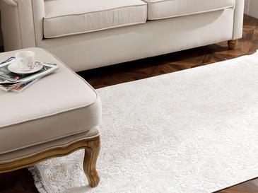 Şal Desen Polyester Halı 80x300 Cm Ekru