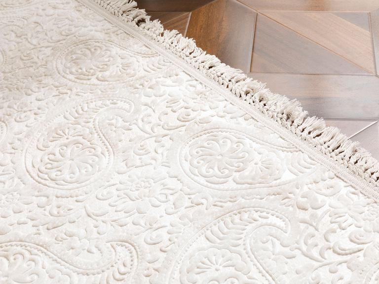 Şal Desen Polyester Halı 80x150 Cm Bej