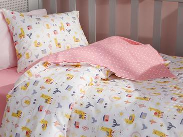 Lama Pamuklu Bebe Nevresim Takımı 100x150 Cm Sarı