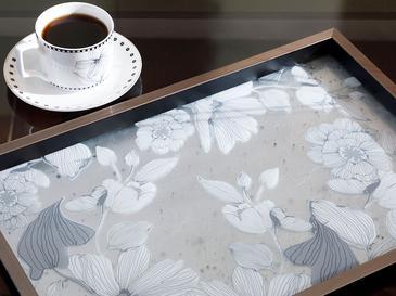 Monochrome Cam Dekoratif Tepsi 31x46 Cm Siyah