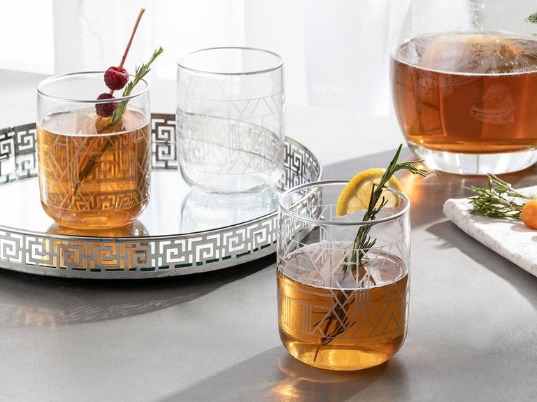Robin Cam 3'lü Meşrubat Bardağı 270 Ml Gümüş