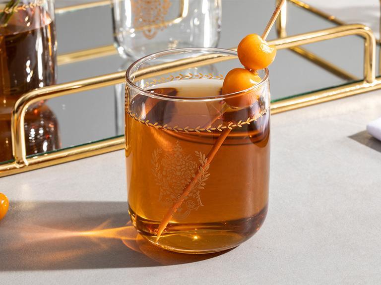 Ena Cam 3'lü Meşrubat Bardağı 270 Ml Gold