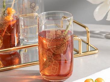 Luba Cam 3'lü Meşrubat Bardağı 365 Ml Gold