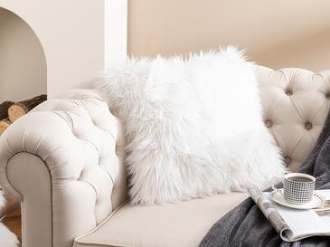 Jade Peluş Kırlent 45x45 Cm Beyaz
