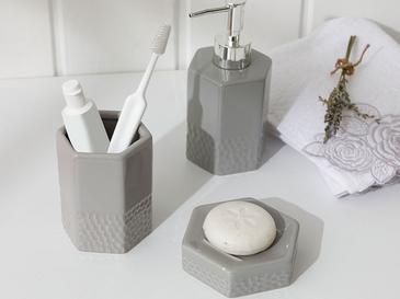 Vanity Seramik Banyo Seti 7x7x10 Cm Gri