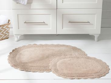Loya Pamuklu Banyo Paspası Seti 60x90 + 40x60 Cm Bej