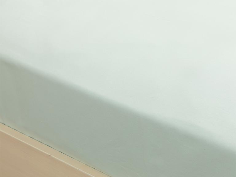 Düz Pamuklu Ara Ebat Lastikli Çarşaf 140x200 Cm Açık Seledon