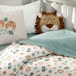 Baby Lion Pamuklu Bebe Nevresim Takımı 100x150 Cm Yeşil