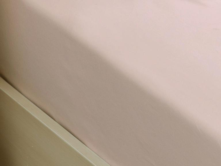 Düz Penye King Size Lastikli Çarşaf Takımı 180x200 Cm Toz Pembe