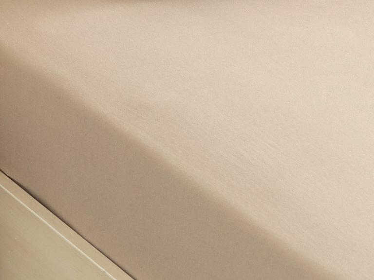 Düz Penye Tek Kişilik Lastikli Çarşaf Takımı 100x200 Cm Kahve Köpüğü