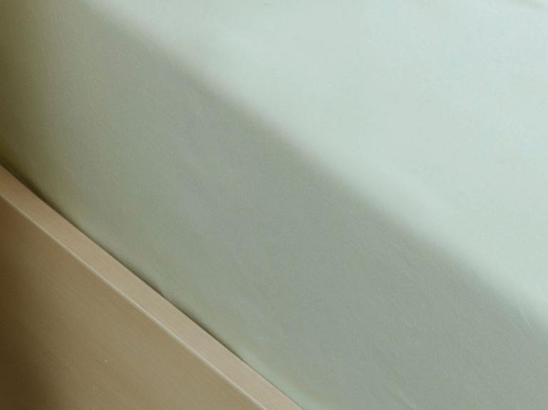 Düz Penye Tek Kişilik Lastikli Çarşaf Takımı 100x200 Cm Açık Seledon