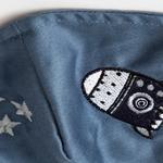 Space Pamuklu Çocuk Maske 4-12 Yaş İndigo
