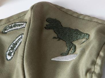 Dinosaur Pamuklu Çocuk Maske 4-12 Yaş Yeşil