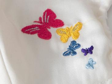 Butterflys Pamuklu Çocuk Maske 4-12 Yaş Ekru