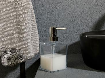 Adela Akrilik Banyo Sıvı Sabunluk 7,5x7,5x11 Şeffaf