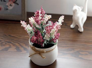 Posy Flowers Seramik Vazolu Yapay Çiçek 15x15x16 Cm Lila