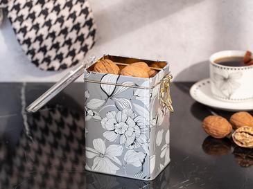 Denby Metal Dikdörtgen Saklama Kabı 15,0x7,5x10,0 Cm Bej - Beyaz